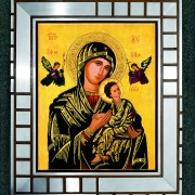 !Obraz Matki Bożej Nieustajacej Pomocy w ramach ze starego kościoła