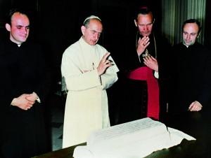 !Ojciec św. Paweł VI poświęcił kamień wegielny pod nowy kościół